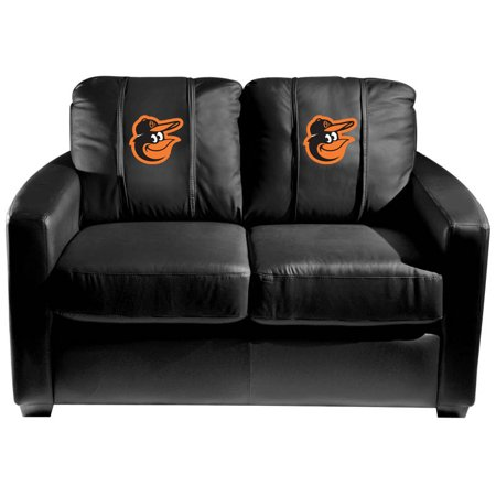 Baltimore Orioles MLB Silver Love Seat with Bird Logo (Silver Baltimore Orioles Bird)