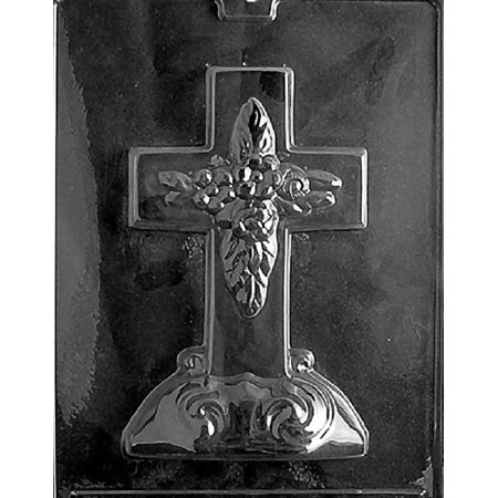 Grandmama's Goodies R025 Large Cross w/Base Chocolate Candy Soap Mold with Exclusive Molding Instructions - Paracord Cross Instructions