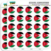 "Jordan National Country Flag 50 1"" Planner Calendar Scrapbooking Crafting Stickers"