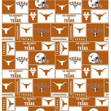 Texas Longhorns Fabric (University of Texas Fabric Super Soft Fleece Classic Geometric Design-Sold by the Yard)