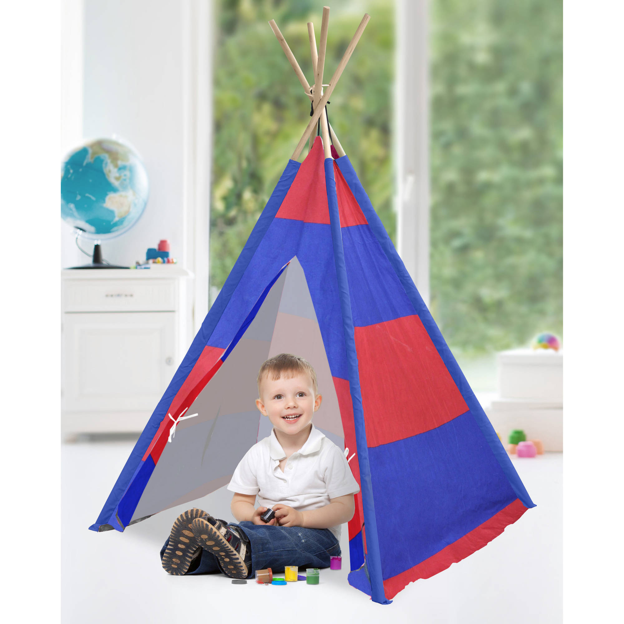 American Kids Play Tent, Rugby Stripe