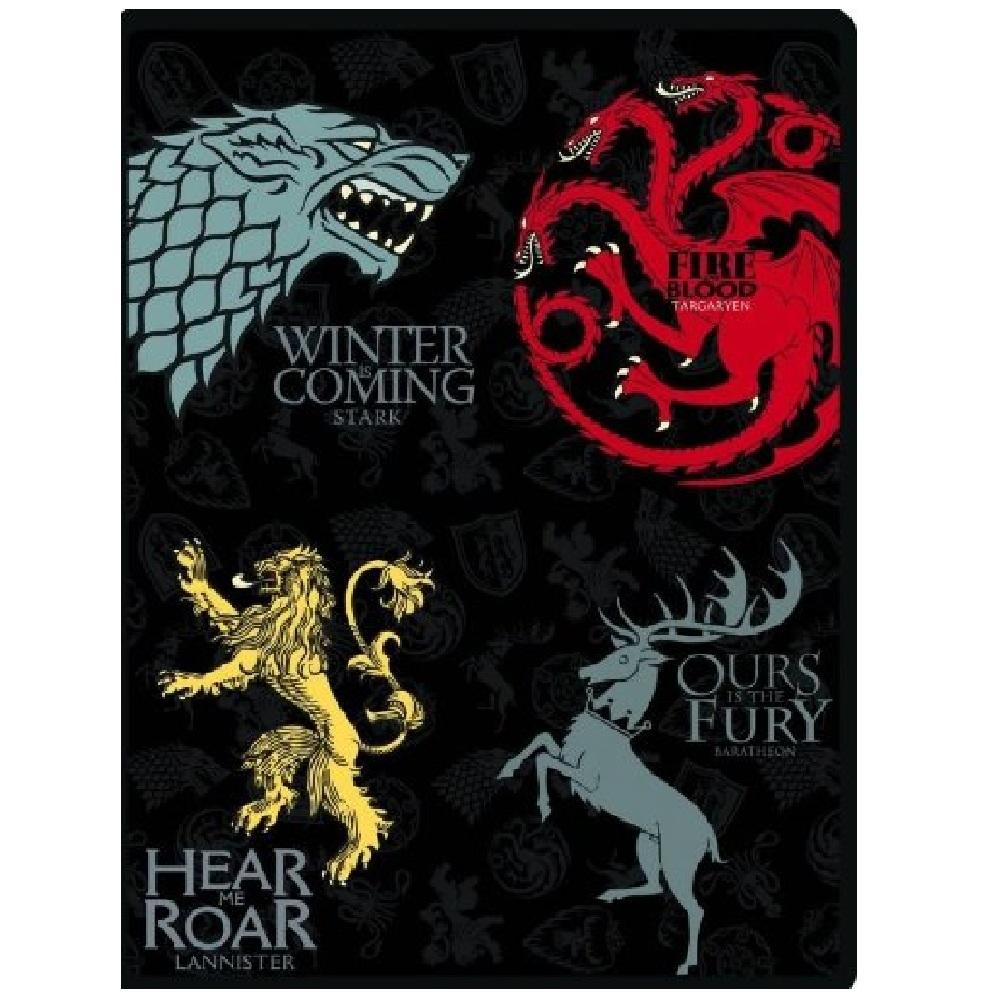 Game Of Thrones Fleece Blanket Stark Targaryen Baratheon Lannister