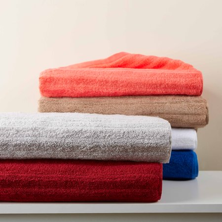 Mainstays Textured Performance Cotton Bath Sheet Towel - 2 piece set