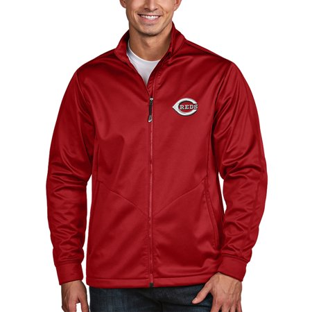 Cincinnati Reds Antigua Golf Full-Zip Jacket - Red