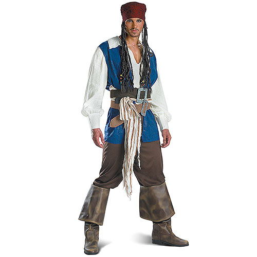 Captain Jack Sparrow Pirates Of The Carribean Quality Teen Adult Mens Costume by Disguise
