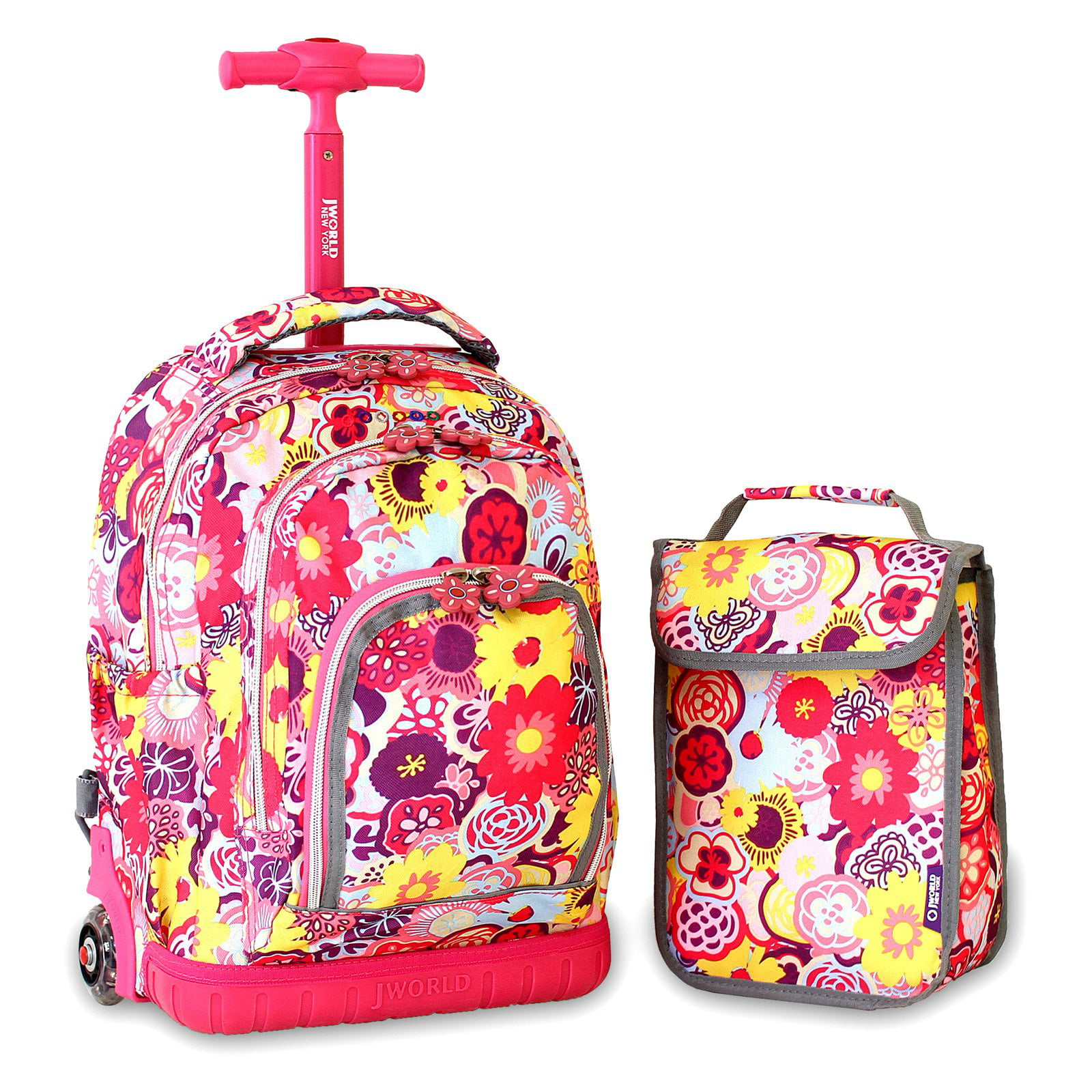 J World Lollipop Rolling Backpack with Lunch Bag - Walmart.com