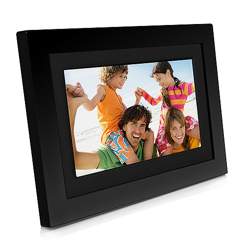 Shomi 7 Digital Photo Frame W Clock Calendar Black Walmartcom