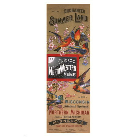Chicago & North Western Railway Vintage Ad Poster Us 1885 - Party City Chicago Western