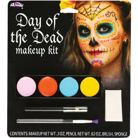 Female Day Of The Dead Makeup Kit Adult Halloween Accessory (Halloween Cat Woman Make Up)