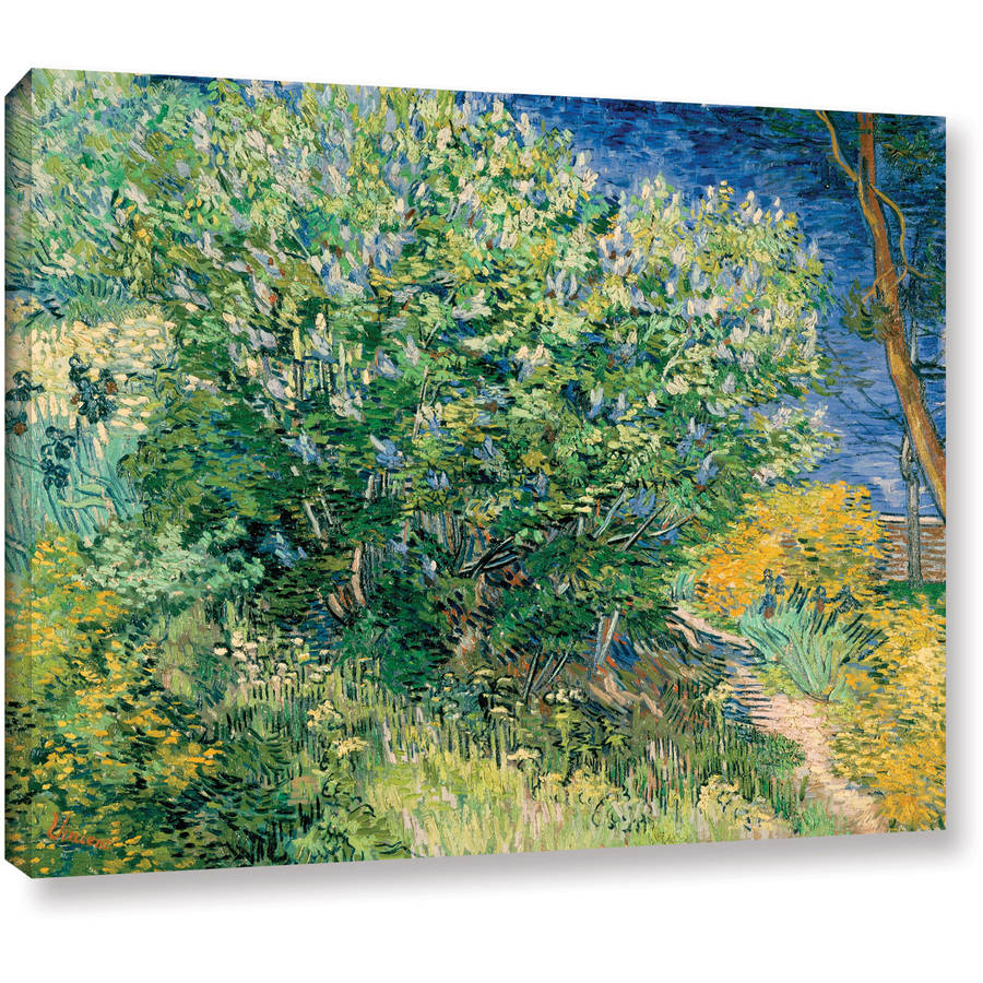 "Vincent Van Gogh ""Lilacs"" Wrapped Canvas Art"
