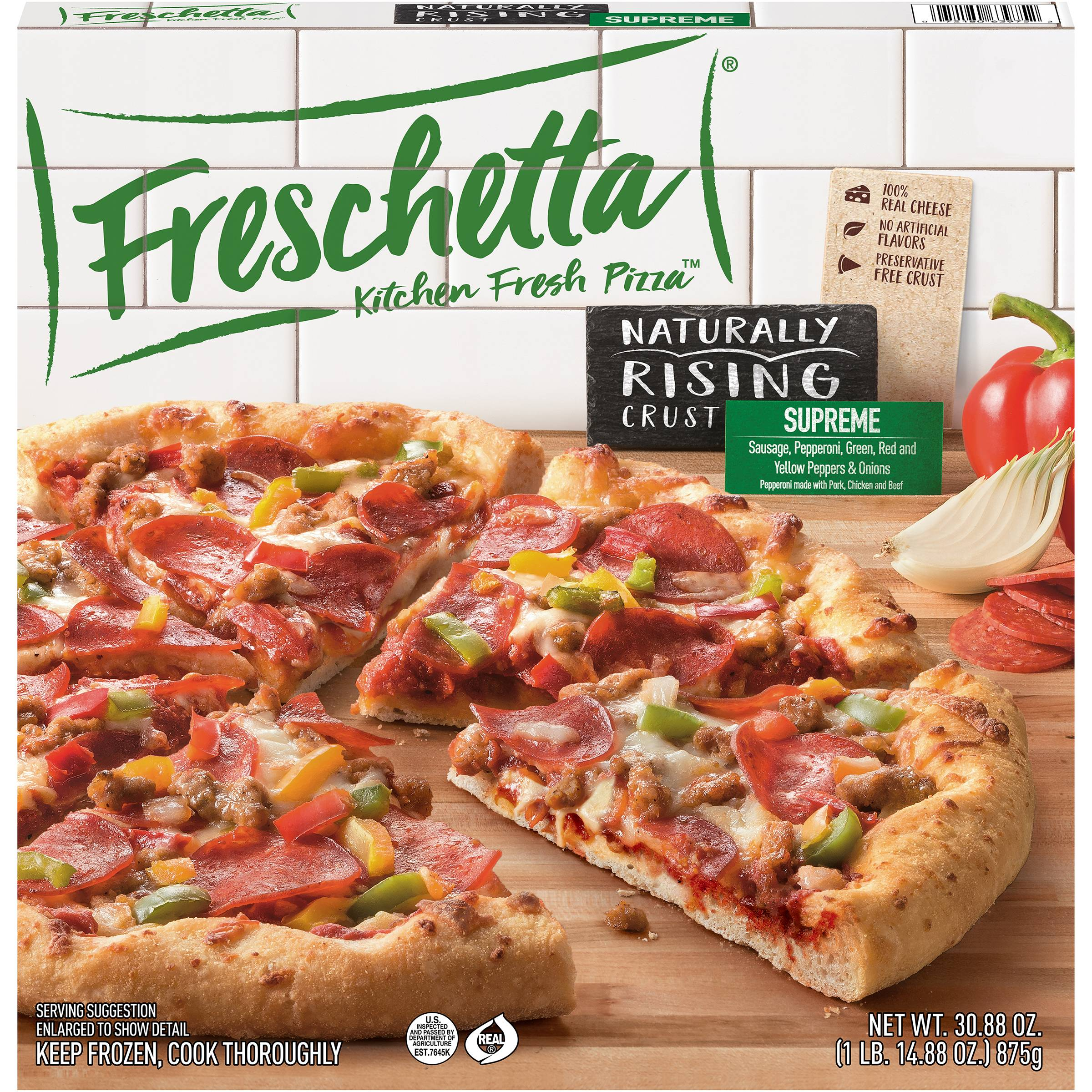 Freschetta® Naturally Rising Crust Classic Supreme Pizza 30.88 oz. Box