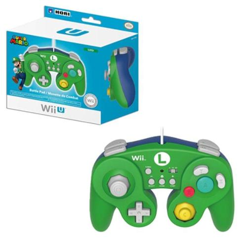 2-Pack Luigi Classic Controller Wired Controller For Nintendo Wii/Wii U