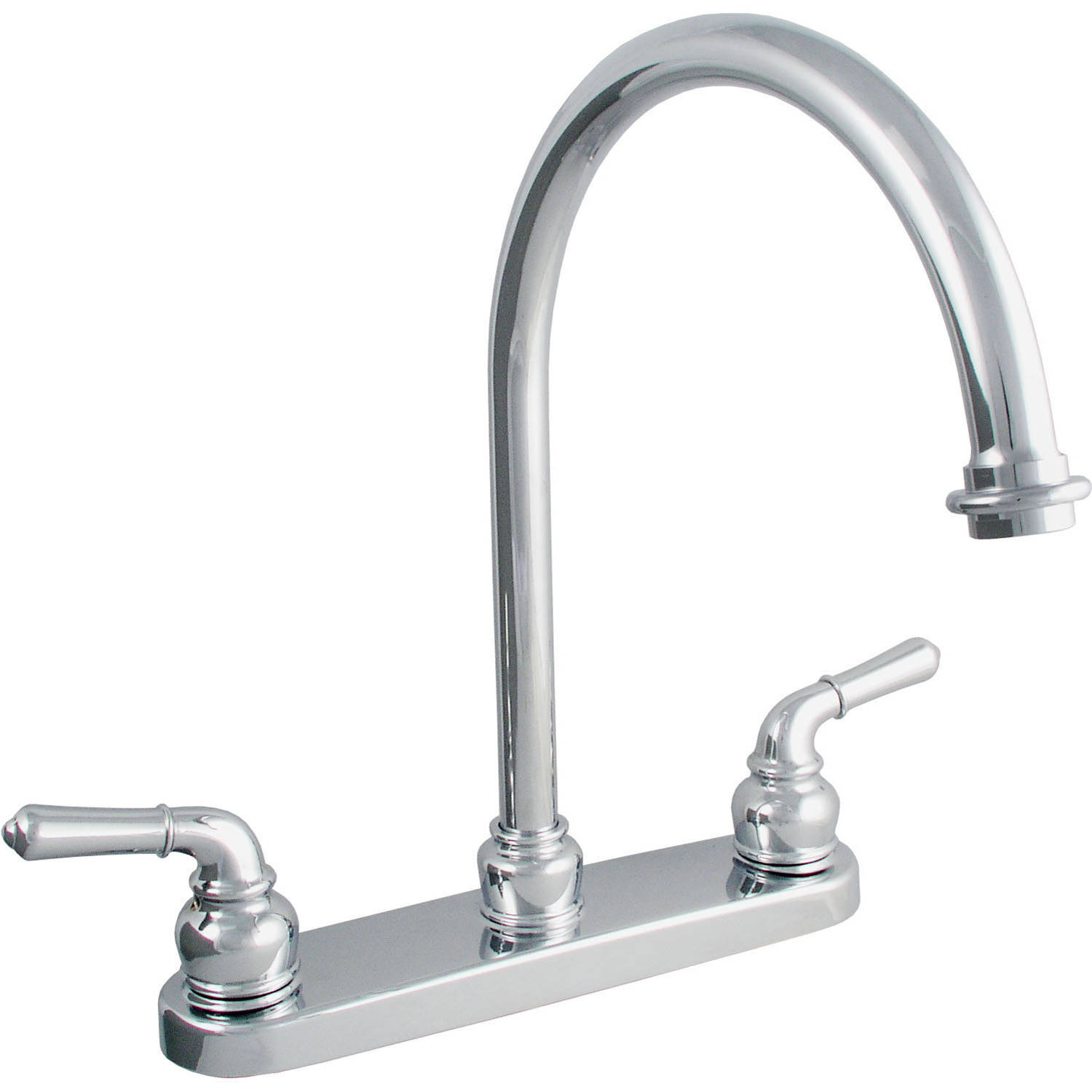 sc 1 st  Walmart & LDR 952-36415CP Double Handle Chrome Kitchen Faucet - Walmart.com