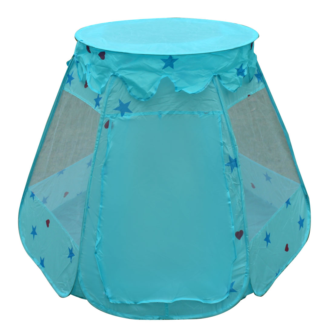 Indoor Polyester Moisture-proof Foldable  Toy House Tent Light Blue