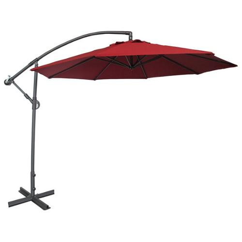 Abba Patio Deluxe Chocolate 10 Ft Adjustable Offset