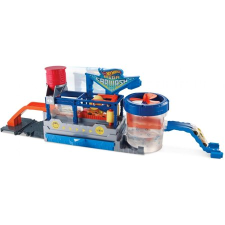 Hot Wheels Color Change Mega Car Wash and Cars and Conveyer Belt Track