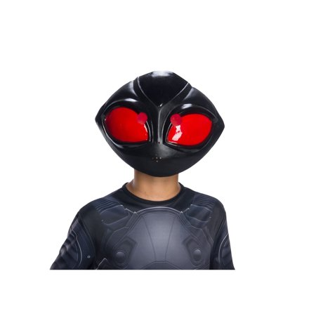 Halloween Aquaman Movie Kids Black Manta 1/2 Mask