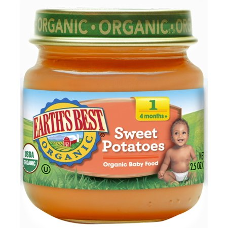 Earth's Best Organic Stage 1 Baby Food, Sweet Potato, 2.5 oz. (Earth's Best Baby Food Recall)
