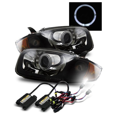 6000K Hid For 03 05 Chevy Cavalier Halo Hi Low Beam Projector Headlights Blk