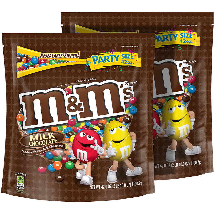 M&M'S Milk Chocolate Candy, 42 oz, (Pack of 2)