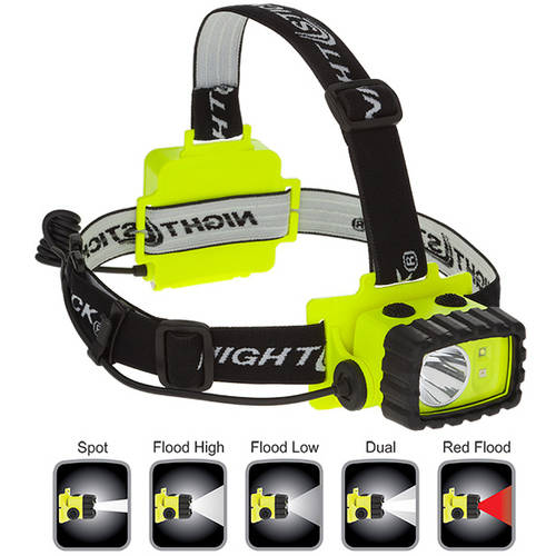 Nightstick XPP-5456G Intrinsically Safe Permissible Dual-Light Multi-Function Headlamp, Green