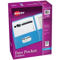Two Pocket Folders, Holds up to 40 Sheets, 25 Blue Folders (47986)