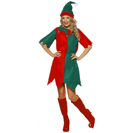 Elf Dress Adult Costume - Large](Elf Costume Adults Homemade)
