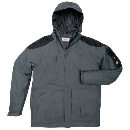 COLEMAN 2000015033 Rain Jacket with Hood, Charcoal, L