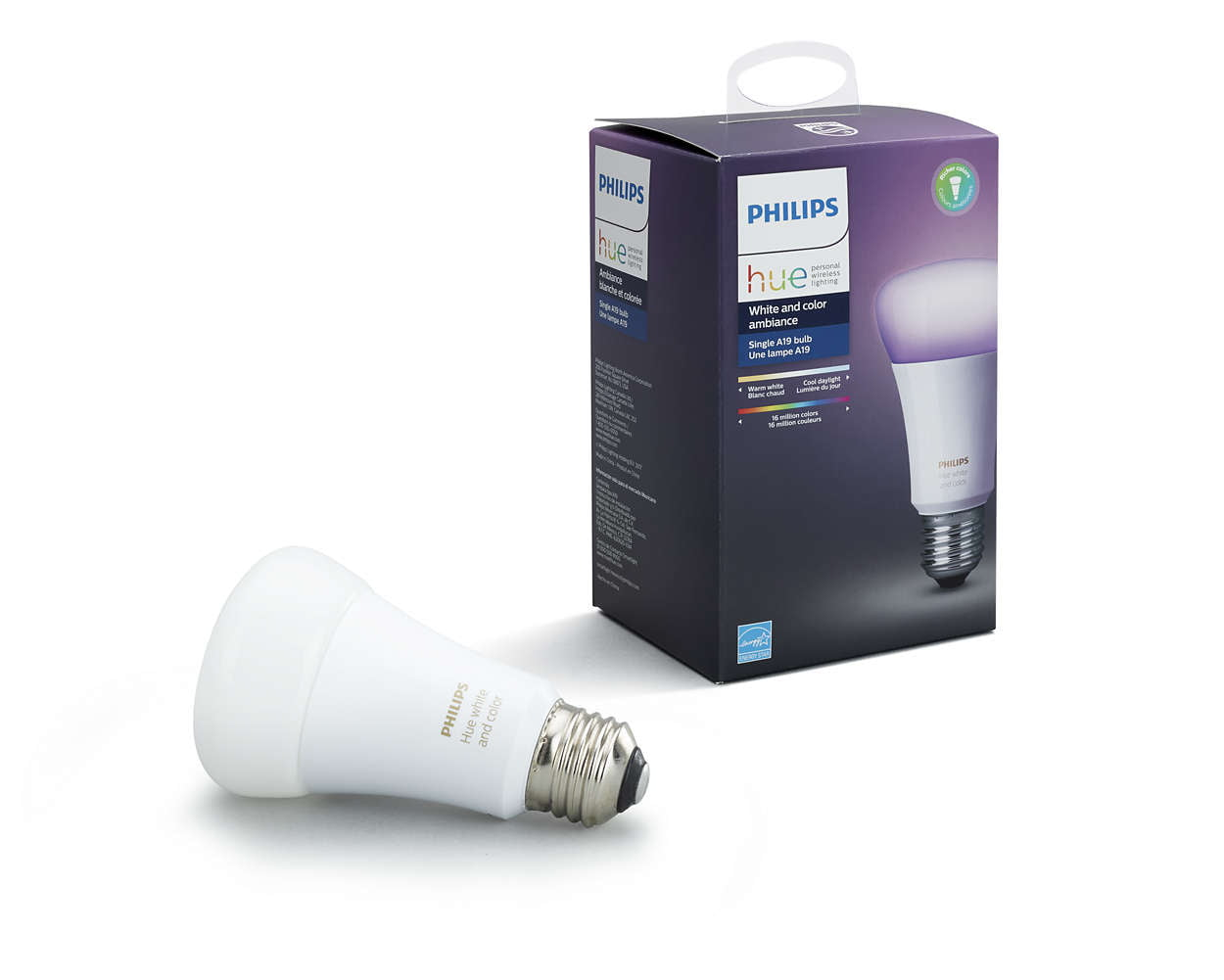 471960 Philips Hue Gen 3 60W A19 White /& Color Ambiance Smart 4 Bulb Kit