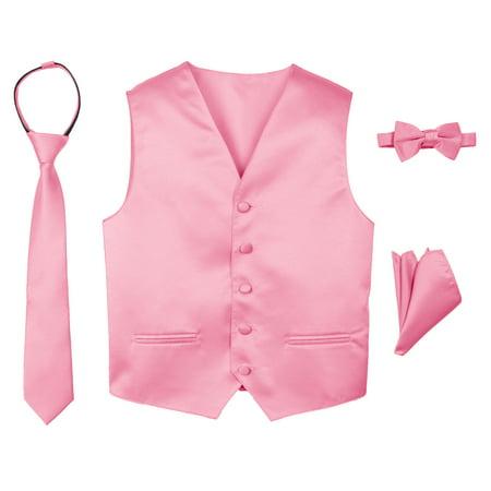 265187932b2 Spring Notion - Spring Notion Boys' 4-Piece Satin Tuxedo Vest Set 14 Dusty  Rose - Walmart.com