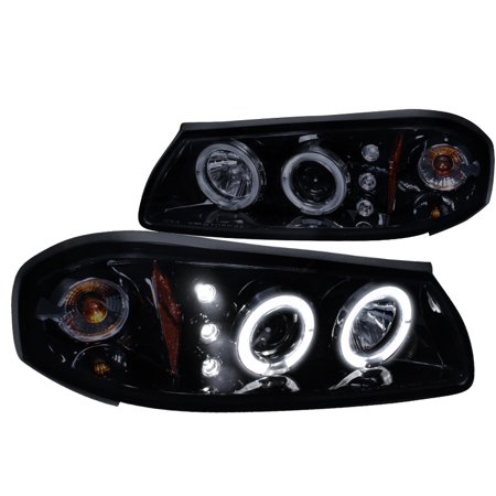 Spec-D Tuning 2000-2005 Chevy Impala Dual Halo Led Projector Headlights 2000 2001 2002 2003 2004 2005 (Left + Right)