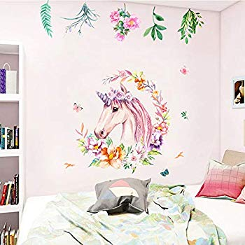 Removable 3D Broken Unicorn Wall Stickers Fantasy Decals Kids Nursery Room us