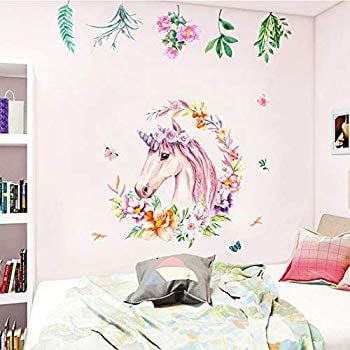Removable 3D Broken Unicorn Wall Stickers Fantasy Decals Kids Nursery Room us