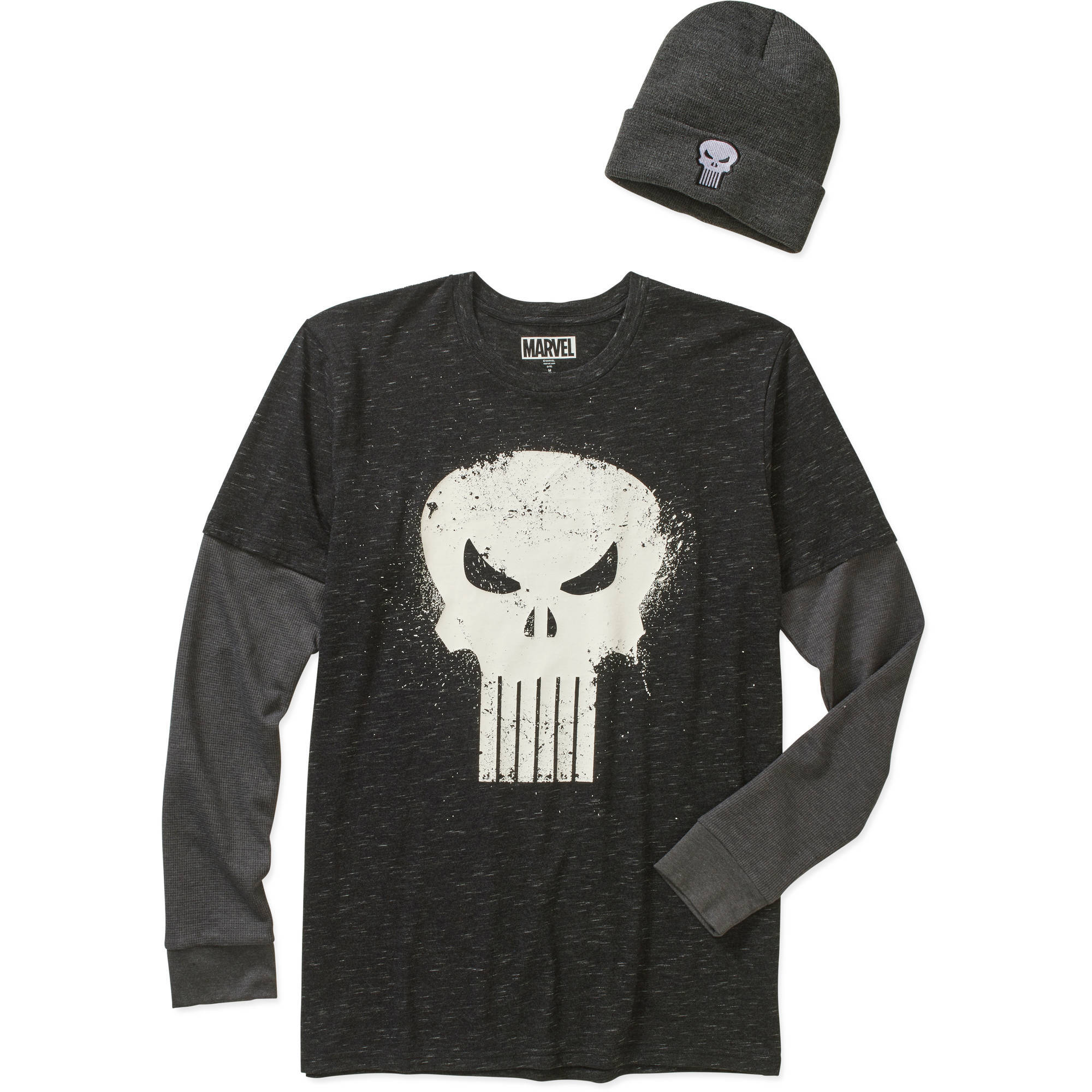 Punisher Men's Shirt & Beanie Combo