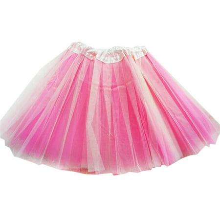 GOGO TEAM Girl's Tutu Skirt Ballet Dance Skirt Party Fairy Costume Skirt-Pink