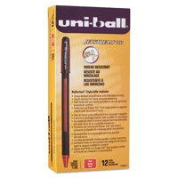 Uni-ball Jetstream 101 Roller Ball Stick Water-Resistant Pen, Red Ink, Medium, 12pk
