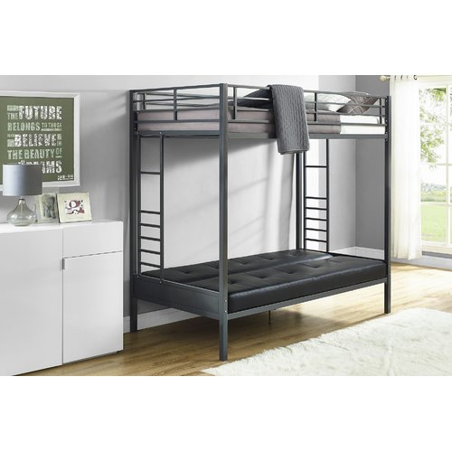 Harriet Bee Kaytlynn Twin Over Futon Bunk Bed Walmart Com