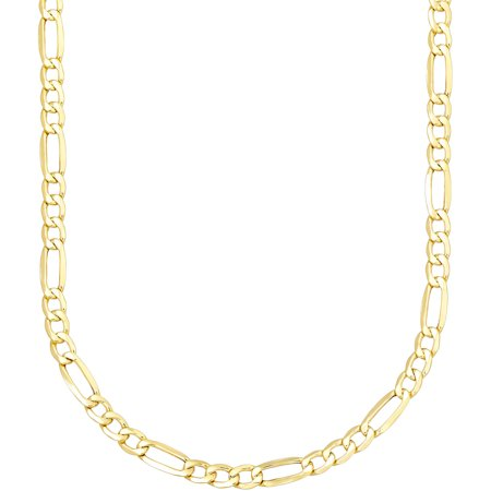 Simply Gold Unisex 10Kt Yellow Gold Figaro Chain  22