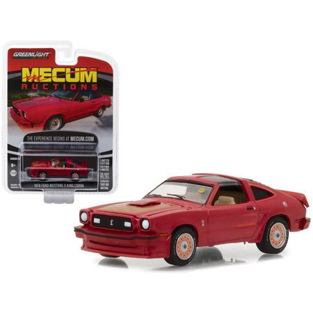 1978 Ford Mustang II King Cobra Red (Kansas City 2012) Mecum Auctions Collector Series 2 1/64 Diecast Car by