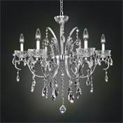 Allegri by Kalco Lighting 023854-010-FR001 Catalani 6 Light Chandelier in Chrome