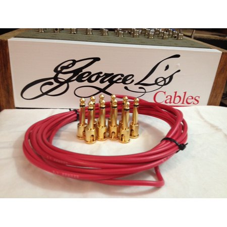 - George L 155 Pedalboard Effects Cable Kit .155 Red / GOLD - 10/10