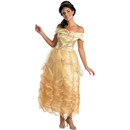 Belle Deluxe Adult Halloween Costume (Disney Adult Pocahontas Costume)