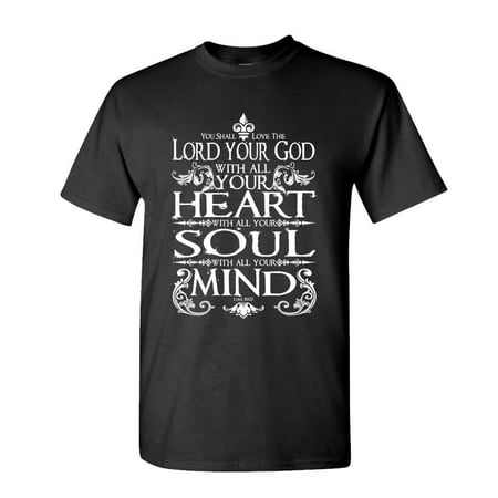 LOVE THE LORD YOUR GOD - jesus christian - Cotton Unisex T-Shirt