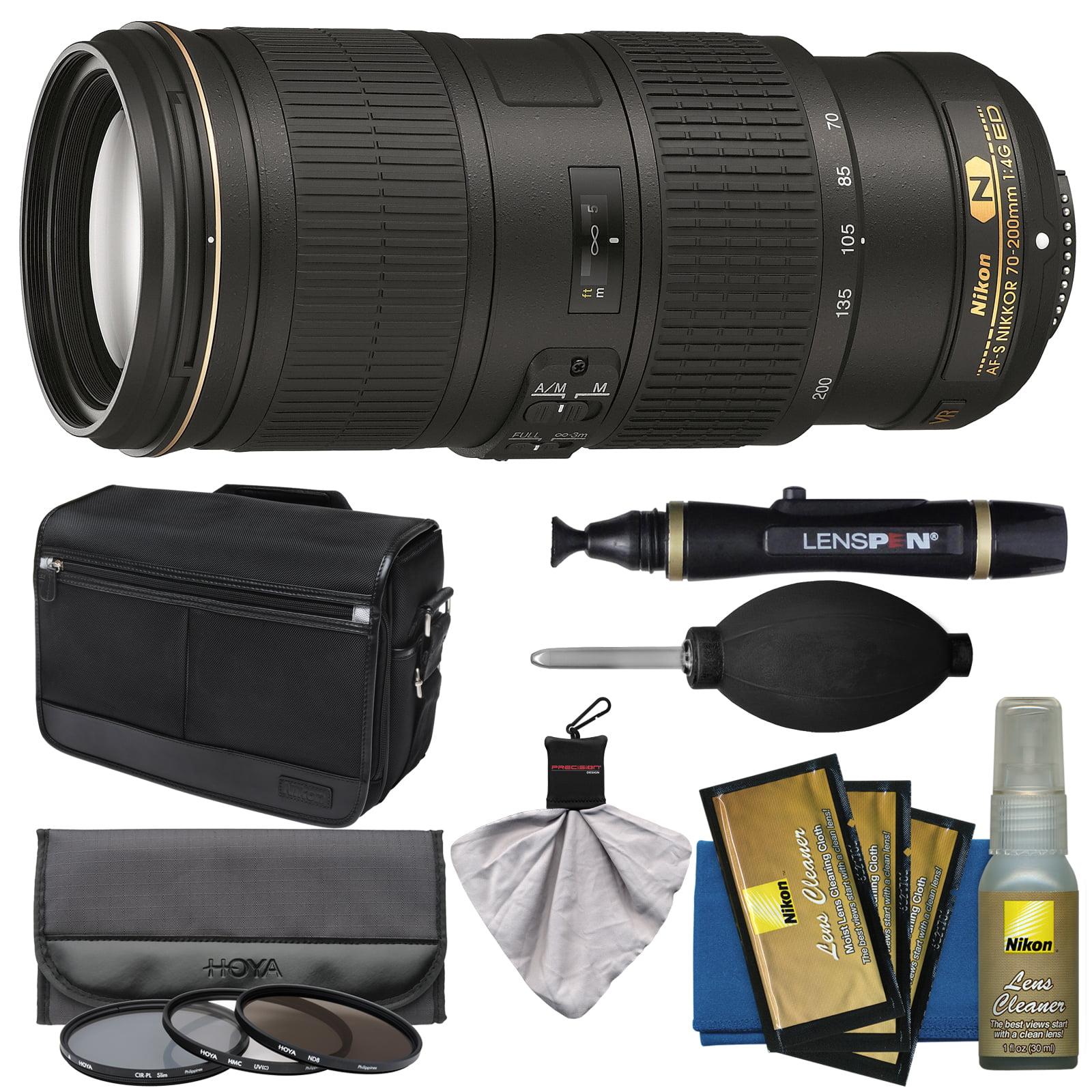 Nikon 70-200mm f/4G VR AF-S ED Nikkor-Zoom Lens with Shoulder Bag + 3 Filters + Kit for D3200, D3300, D5300, D5500, D7100, D7200, D750, D810 Camera