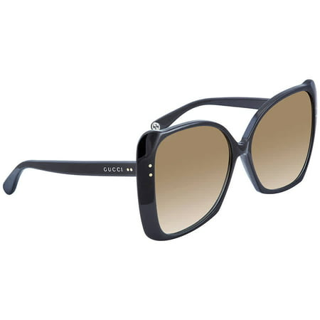 Gucci Brown Gradient Butterfly Ladies Sunglasses GG0471 S001 62