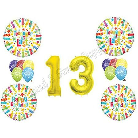 13TH THIRTEENTH Teenager At Last Happy Birthday Balloons Decoration - 13th Birthday Ideas