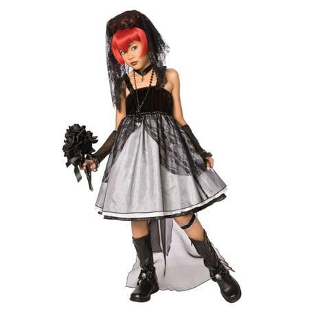 Morris Costumes LF-3017CMD Dark Bride Child Medium - Dark Bride Child Costume