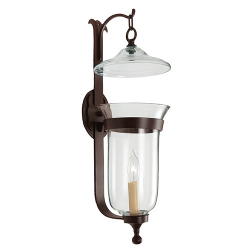 JV Imports JVI Designs 1-Light Large Bell Jar Candle Sconce