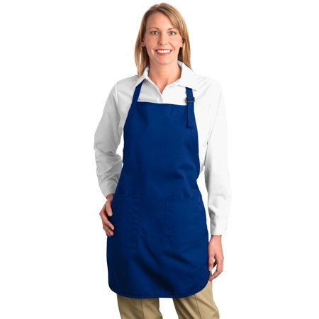 Port Authority® Full Length Apron With Pockets.  A500 Royal Osfa - image 1 of 1