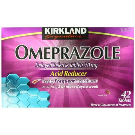 Kirkland Signature Omeprazole Delayed Release  Acid Reducer Tablets 20 Mg  42 Count
